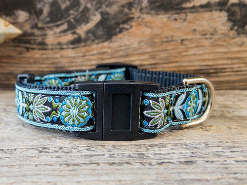 Boho Bleu cat collar by Surf Cat