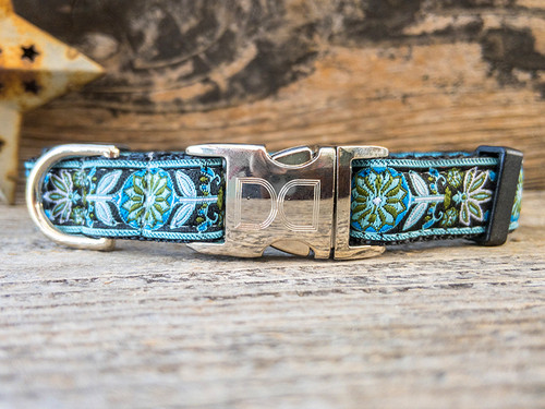 Boho Bleu dog collar by www.diva-dog.com