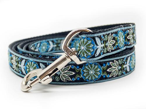 Boho Bleu dog leash by www.diva-dog.com
