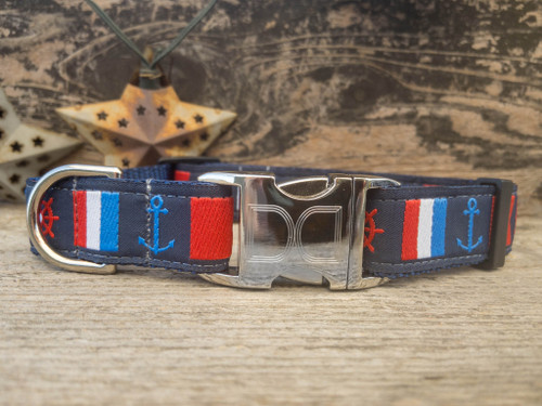 Nautical Flags dog collar by www.diva-dog.com