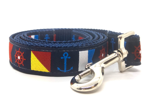 Nautical Flags dog leash by www.diva-dog.com
