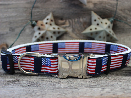 Stars n Stripes dog Collar - by Diva-Dog.com