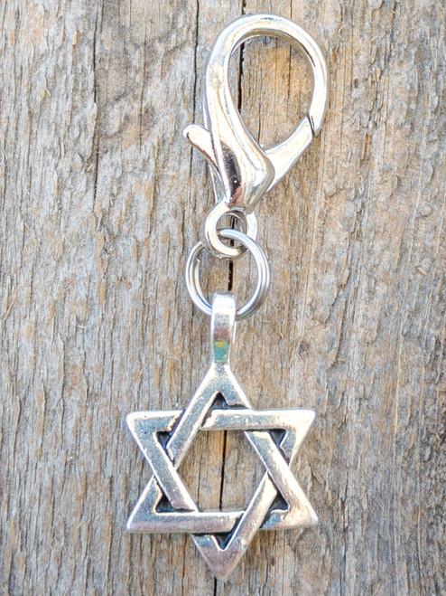 Star of David dog collar charm by www.diva-dog.com