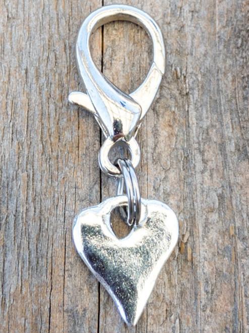Melting Heart dog collar charm by www.diva-dog.com