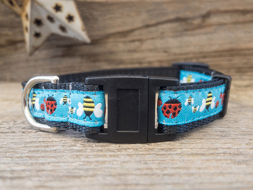 Lady Bugs and Bumble Bees cat collars by Diva Dog and Surf Cat