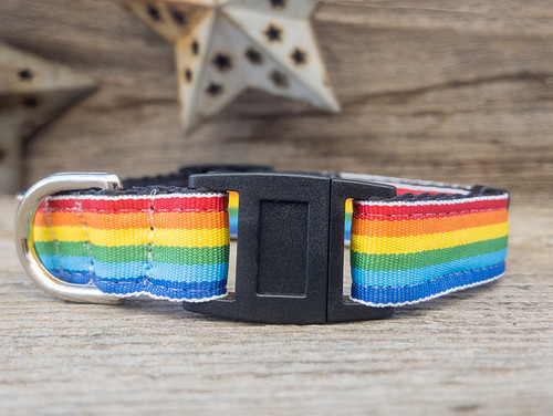 Rainbow cat collars by Diva Dog and Surf Cat