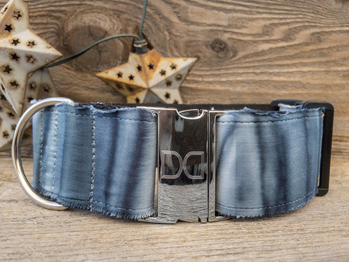 Marble Sands extra wide dog collar by www.diva-dog.com