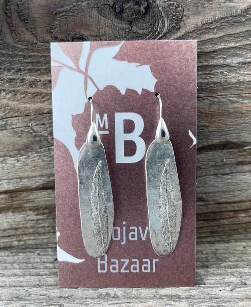 Willow leaf earrings by Mojave Bazaar