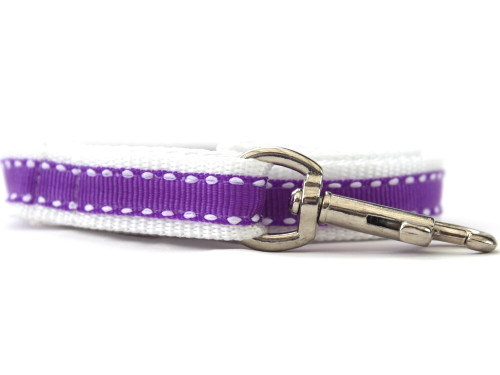 Preppy Purple Dog Leash - by Diva-Dog.com