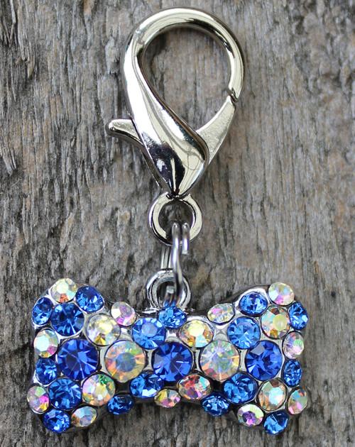 Blue Crystal Viva Las Vegas Charm - by Diva-Dog.com