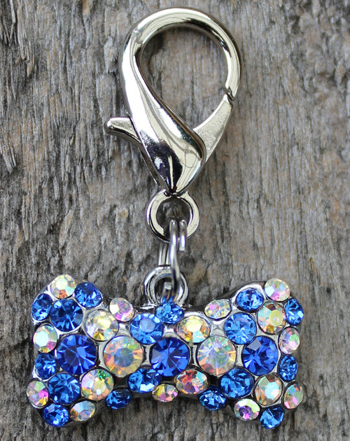 Blue Crystal Viva Las Vegas Charm - by Diva-Dog.com