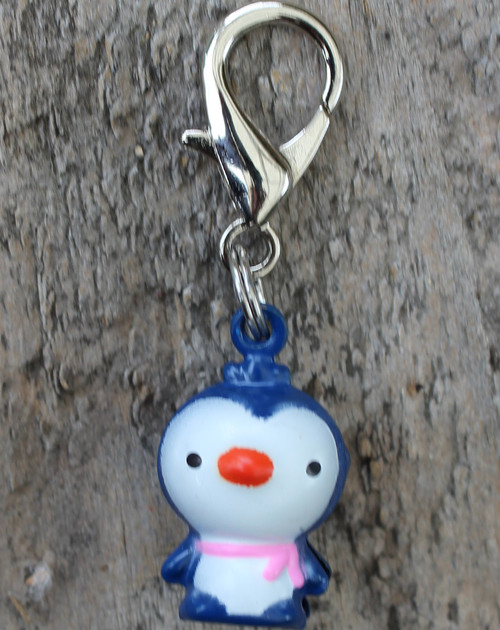 Jingle Penguin dog collar Charm - by Diva-Dog.com