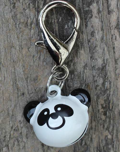 Panda Jingle Dog Collar Charm - by Diva-Dog.com