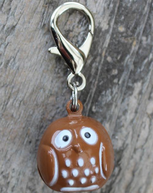 Jingle Owl Dog Collar Charm - by Diva-Dog.com