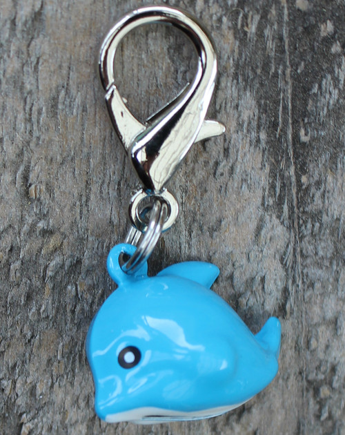 Jingle Dolphin Dog Collar Charm - by Diva-Dog.com