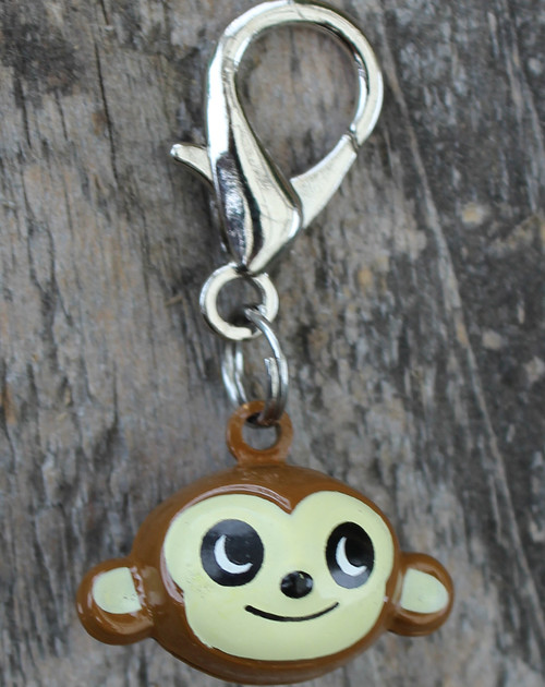 Jingle Monkey Dog Collar Charm - by Diva-Dog.com