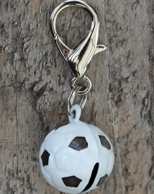 Jingle Soccer Ball Dog Collar Charm - by Diva-Dog.com