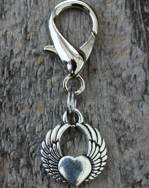 Winged Heart Charm - by Diva-Dog.com