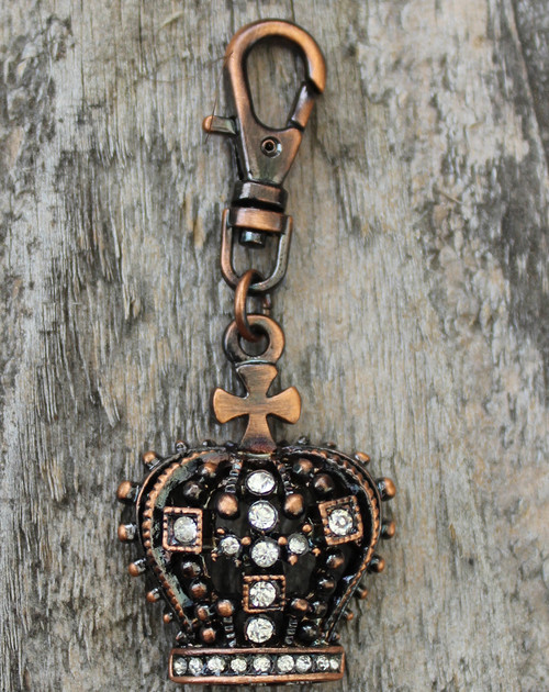 Gothic Crown Dog Collar Charm - by Diva-Dog.com