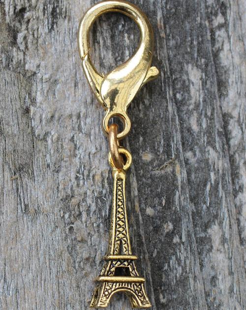 Eiffel Tower Collar Charm - by Diva-Dog.com - Gold