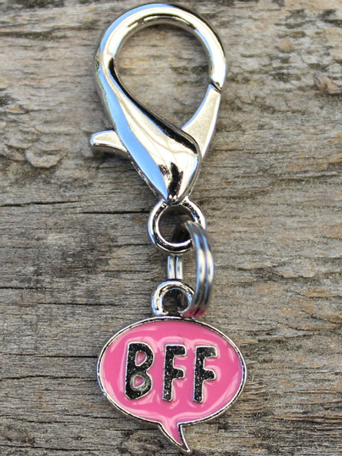 BFF Pink dog collar Charm - by Diva-Dog.com
