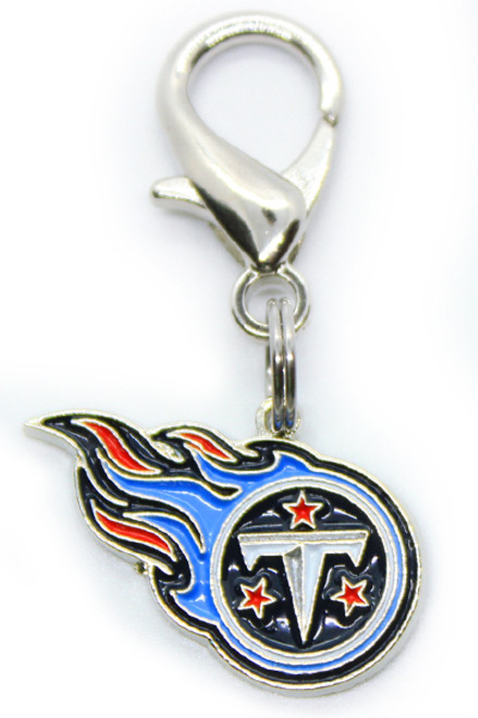 Tennessee Titans logo dog collar Charm - by Diva-Dog.com