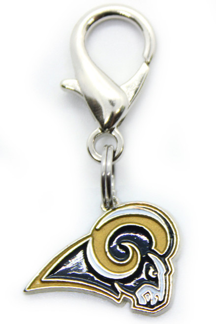 Los Angeles Rams Logo Dog Collar Charm - by Diva-Dog.com