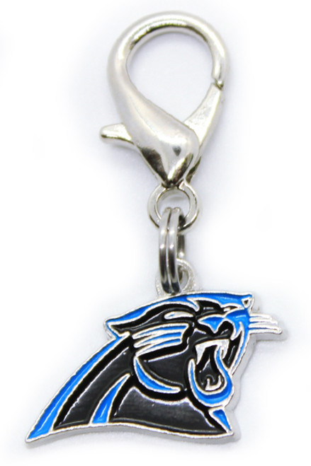 Carolina Panthers dog collar Charm - by Diva-Dog.coms
