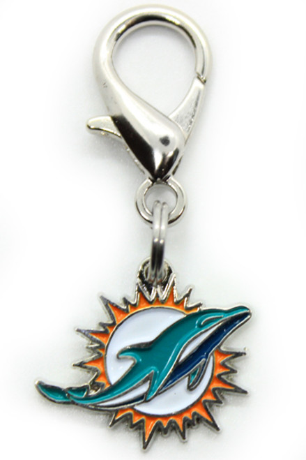 Miami Dolphins Logo Dog Collar Charm - by Diva-Dog.com