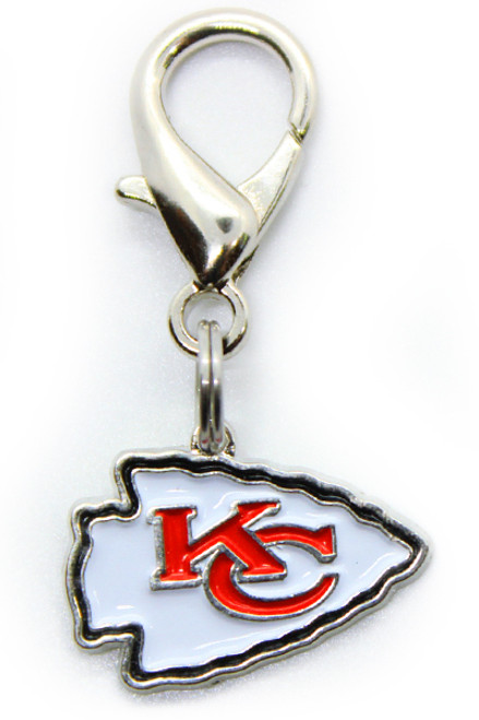 Kansas City Chiefs Logo Dog Collar Charm - by Diva-Dog.com