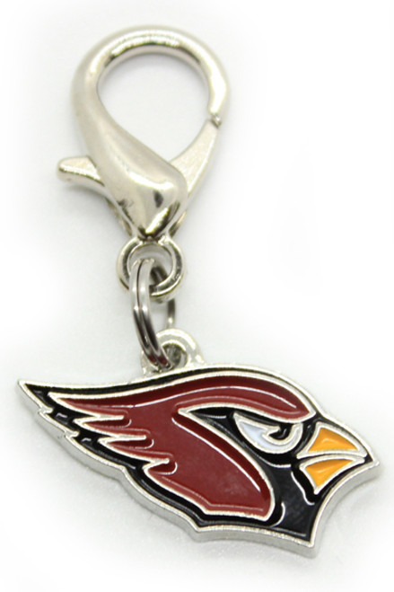 Arizona Cardinals Logo Dog Collar Charm - by Diva-Dog.com