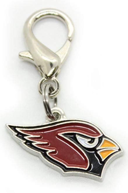 Arizona Cardinals Logo Dog Collar Charm - by Diva-Dog.com