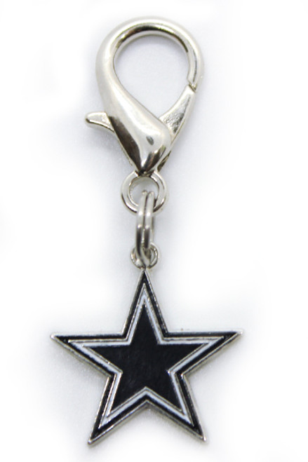 Dallas Cowboys Logo Dog Collar Charm - by Diva-Dog.com