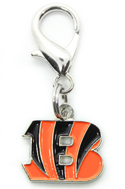 Cincinnati Bengals Logo Dog Collar Charm - by Diva-Dog.com