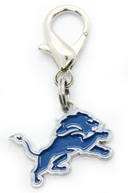 Detroit Lions Dog Collar Charm - by Diva-Dog.com