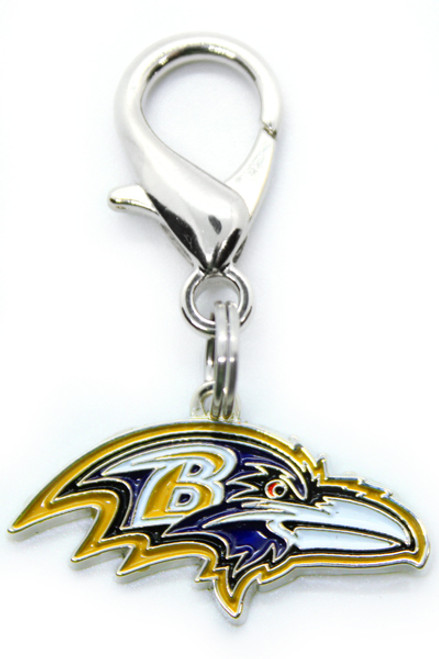 Baltimore Ravens Logo Dog Collar Charm - by Diva-Dog.com
