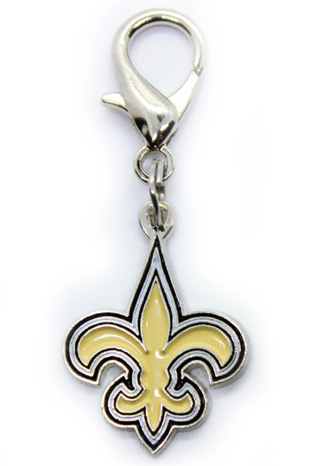 New Orleans Saints Logo Charm - by Diva-Dog.com