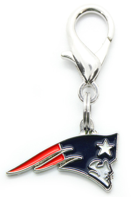 New England Patriots Logo dog collar Charm - by Diva-Dog.com
