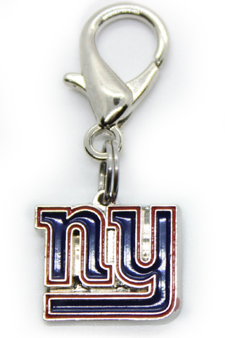 New York Giants dog collar charm - by Diva-Dog.com
