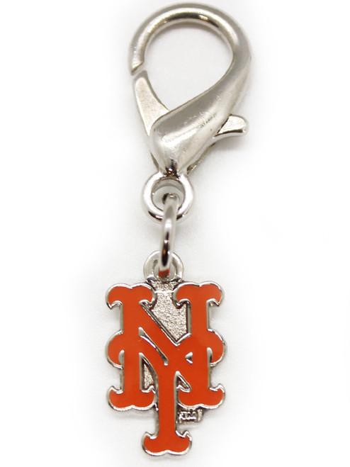 New York Mets dog collar charm - by Diva-Dog.com
