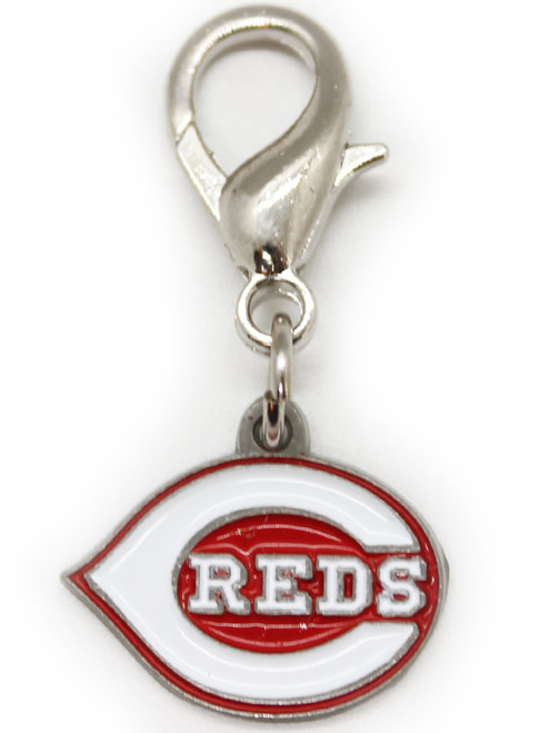 Cincinnati Reds logo collar charm - by Diva-Dog.com