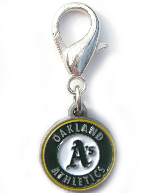 Oakland Athletic's logo collar Charm - by Diva-Dog.com