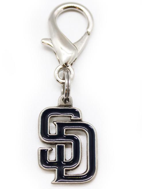 San Diego Padres Logo Dog Collar Charm - by Diva-Dog.com