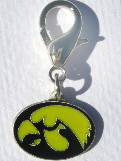 University of Iowa Hawkeyes Collar Charm - by Diva-Dog.com