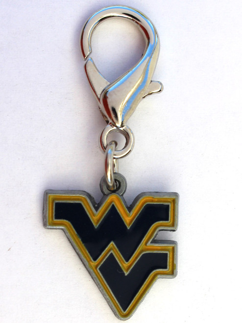 West Virginia Mountaineers Collar Charm - by Diva-Dog.com