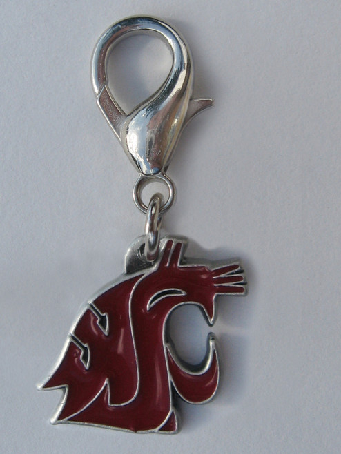 Washington State Cougars Collar Charm - by Diva-Dog.com