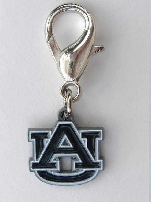 Auburn University Tigers dog collar charm by diva-dog.com