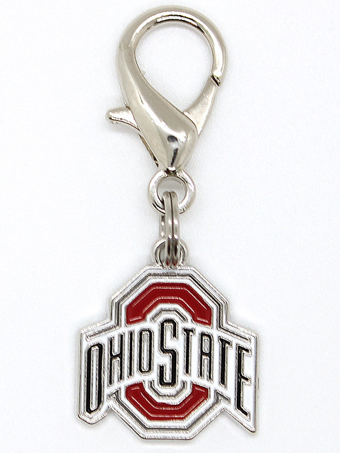 Ohio State Buckeyes Dog Collar Charm - by Diva-Dog.com