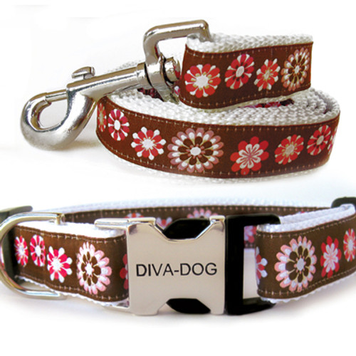 Garden Party Clearance Collar and Leash - by Diva-Dog.com
