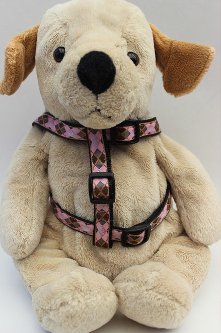 Argyle Step-In Harness - by Diva-Dog.com  front view